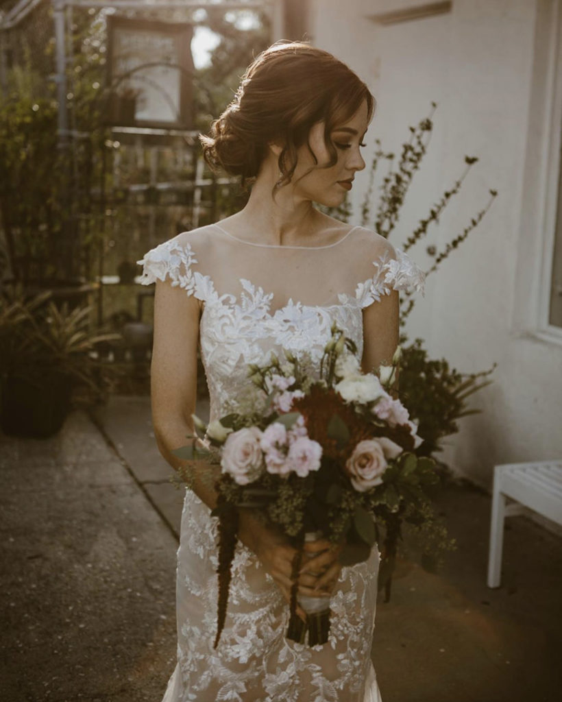 Ada K Beauty Naples Bridal Hair Low Updo